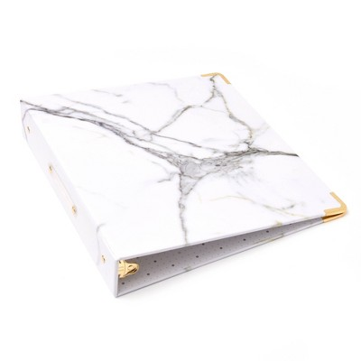 """1.5"""" Signature Round Ring Binder Marble - russell+hazel"""