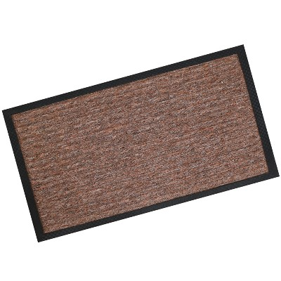 "1'6""x2'6"" Rectangle Outdoor Pressed or Molded Geometric Accent Rug Brown - Sunnydaze Decor"