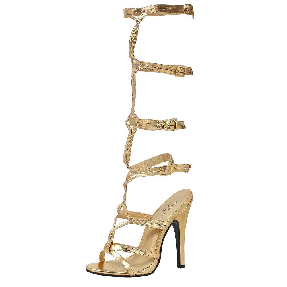 Halloween Women's Sassy Shoes Gold Costume - Large