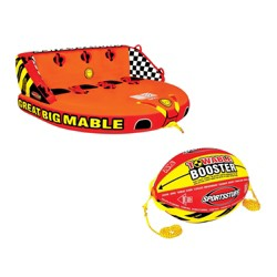 Sportsstuff Mable 4-Rider Towable Tube & Airhead 4K Booster Towing System