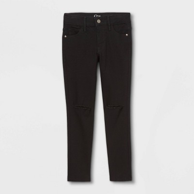 Girls' Skinny Mid-Rise Jeans - art class™ Black