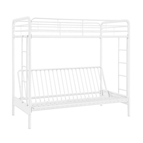 Twin Over Futon Bunk Bed White - Dorel Home Products - image 1 of 4