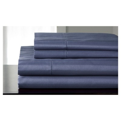 Queen 500 Thread Count Andiamo Cotton Sheet Set Pacific Blue