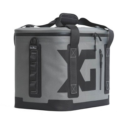 XG Cargo XG-310 20-Can 21-Quart Insulated Waterproof Nylon Ice Box Cooler with Shoulder Strap and Grab Handles, Black