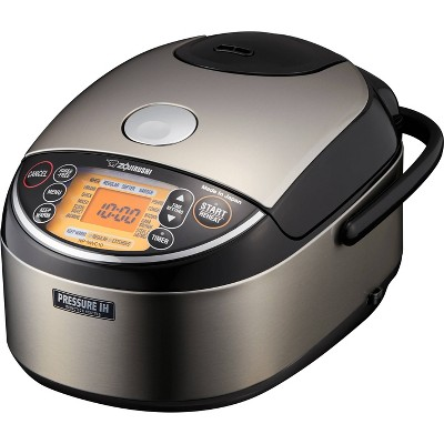 Zojirushi NP-NWC10XB Pressure Induction Heating Rice Cooker & Warmer 5.5 Cup (Uncooked)