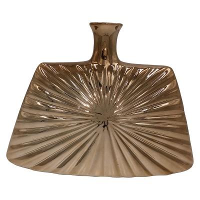Star Burst Ceramic Vase Cognac 9  - Drew DeRose