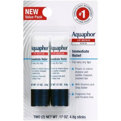 Aquaphor Lip Balm Repair Stick - 2ct - 0.17oz