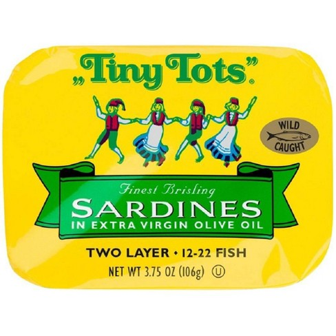 King Oscar Tiny Tots Sardines in Olive Oil - 3.75oz - image 1 of 4