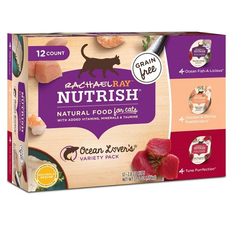 Rachael Ray Nutrish Natural Wet Cat Food Variety Pack - Ocean Lovers, 2.8oz Cups - 12pk - image 1 of 2