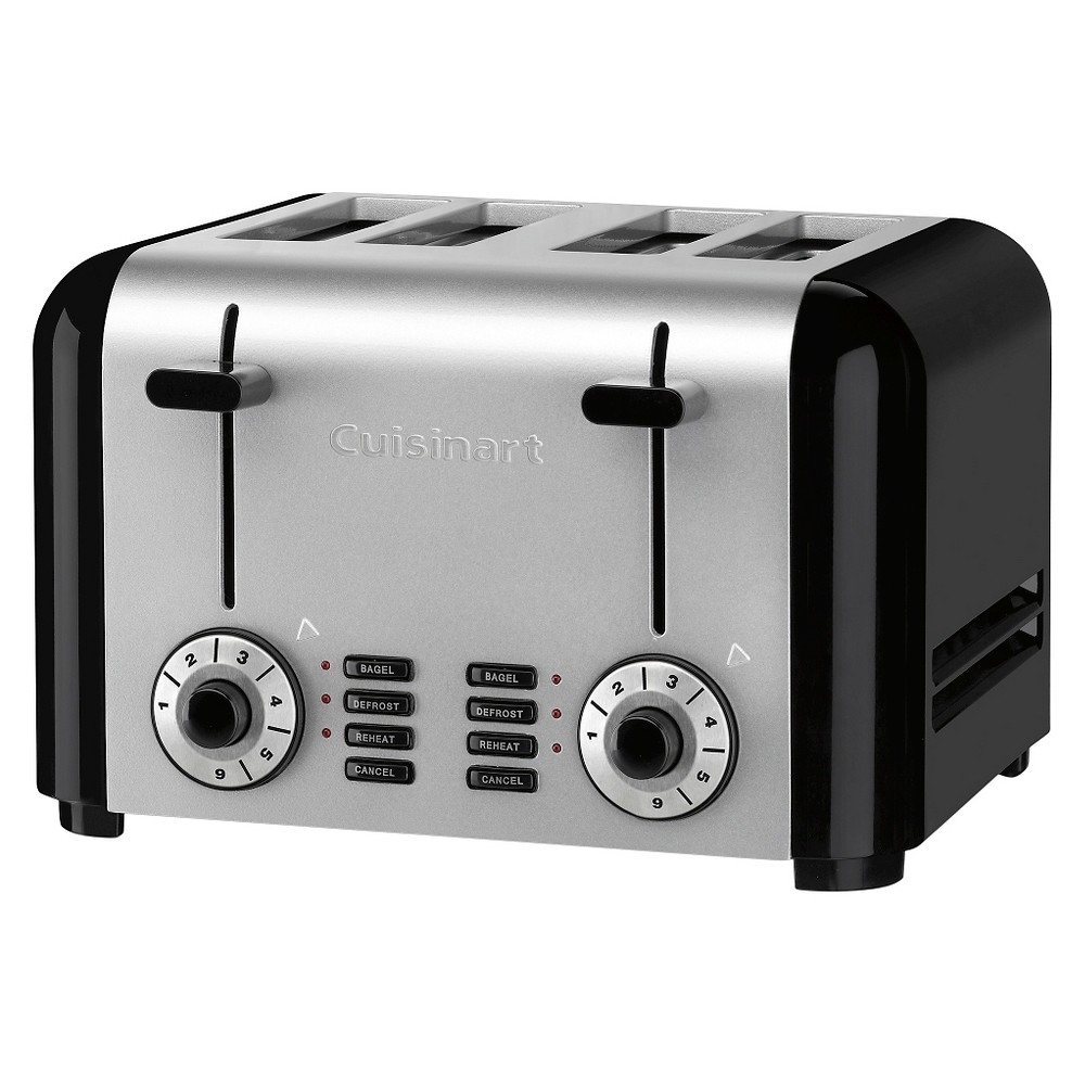 Cuisinart 4 Slice Hybrid Toaster – Brushed Stainless Steel Cpt-340, Grey/Black 18817391