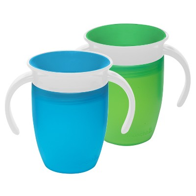 Munchkin 2pk Miracle 360 Blue/Green Trainer Cup 7oz