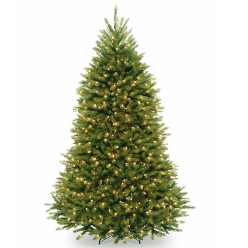 7.5ft National Tree Company Pre-Lit Dunhill Fir Hinged Full Artificial Tree with 750 Clear Lights & Powerconnect - image 1 of 4