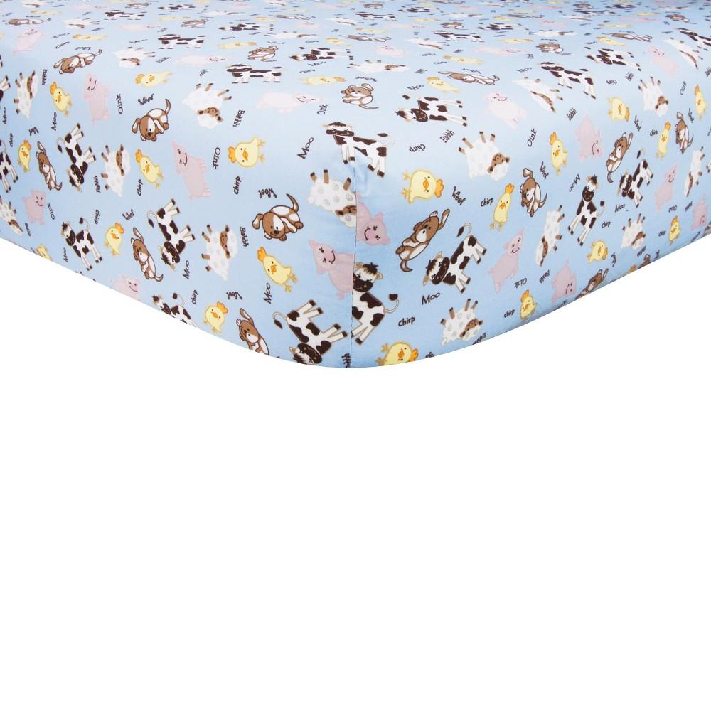 Image of Trend Lab Baby Barnyard Crib Sheet
