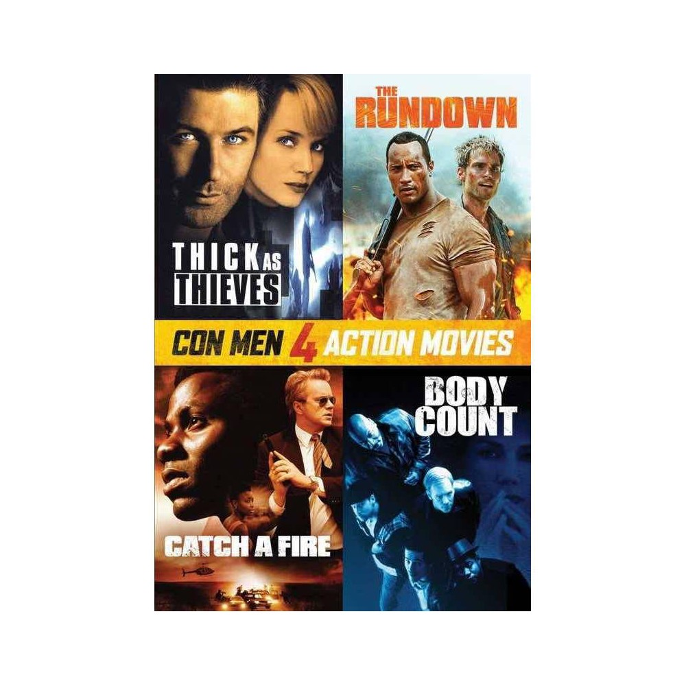 Con Men Action 4 Pack Dvd 2020