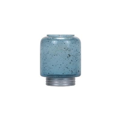 Small Blue Bubble Glass Vase - Foreside Home & Garden