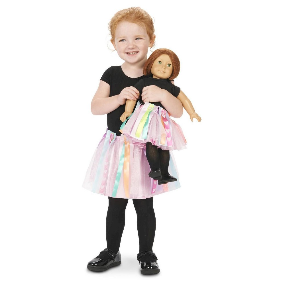 Girls' Diy Create Your Own Tutu with Matching 18 Doll Tutu Costume S(4-6), Multi-Colored