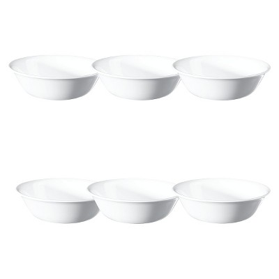Corelle Livingware Winter Frost Vitrelle Cereal Bowls 18oz White - Set of 6