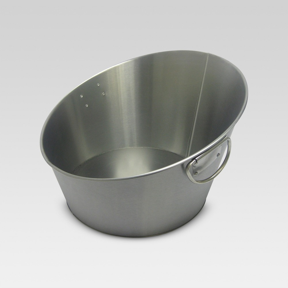 Image of Stainless Steel Angled Beverage Tub - Threshold