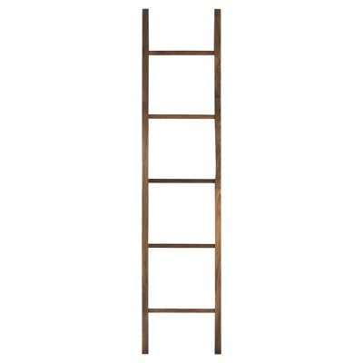 Decorative Ladder with Solid Walnut - Flora Home