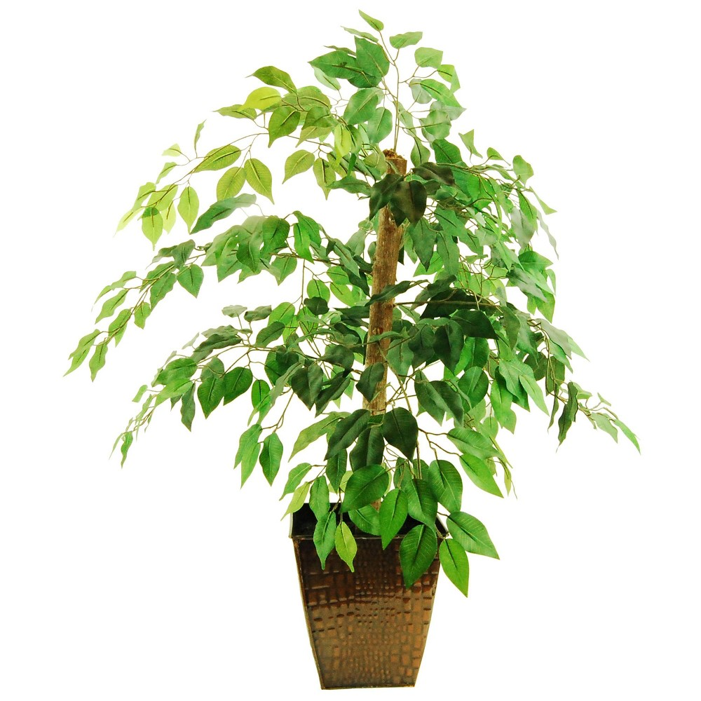 "Image of ""38"""" x 24"""" Artificial Ficus Tree in Metal Container Green - LCG Florals"""