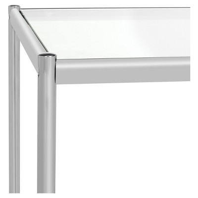 Lilias Glass End Table Chrome   Safavieh®
