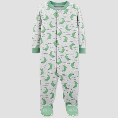 Baby Boys' Alligator Print Sleep 'N Play One Piece Pajama - Just One You® made by carter's Gray/Green 3M