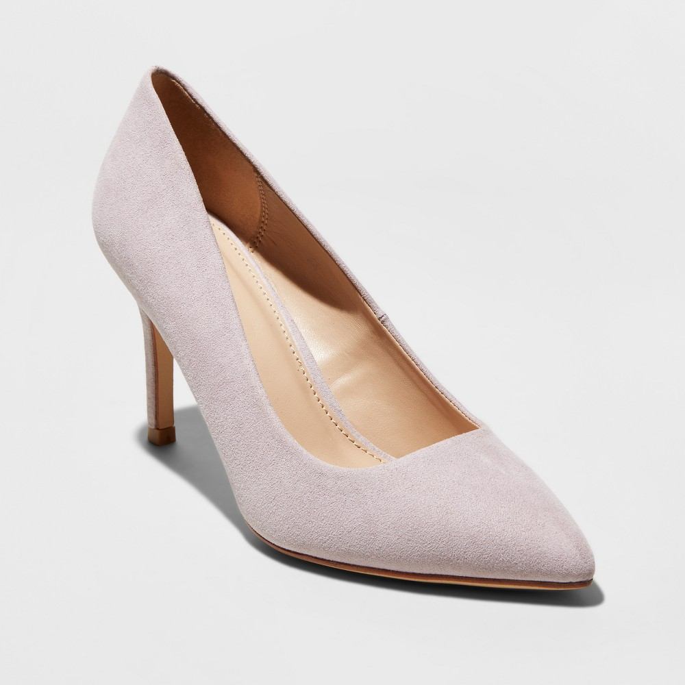 Women's Gemma Pointed Toe Heeled Pumps - A New Day Lavender (Purple) 10