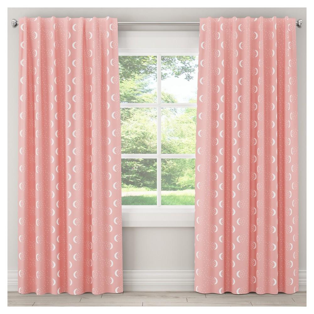 Best Sale Moon Blackout Curtain Panel 63x50 Pink Skyline Furniture