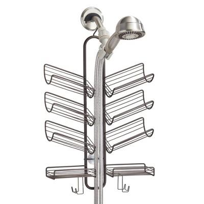 mDesign Metal Bath Tub & Shower Caddy, Hanging Storage Organizer
