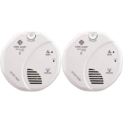 First Alert 2pk Hardwired Smoke Alarm Wireless Interconnect