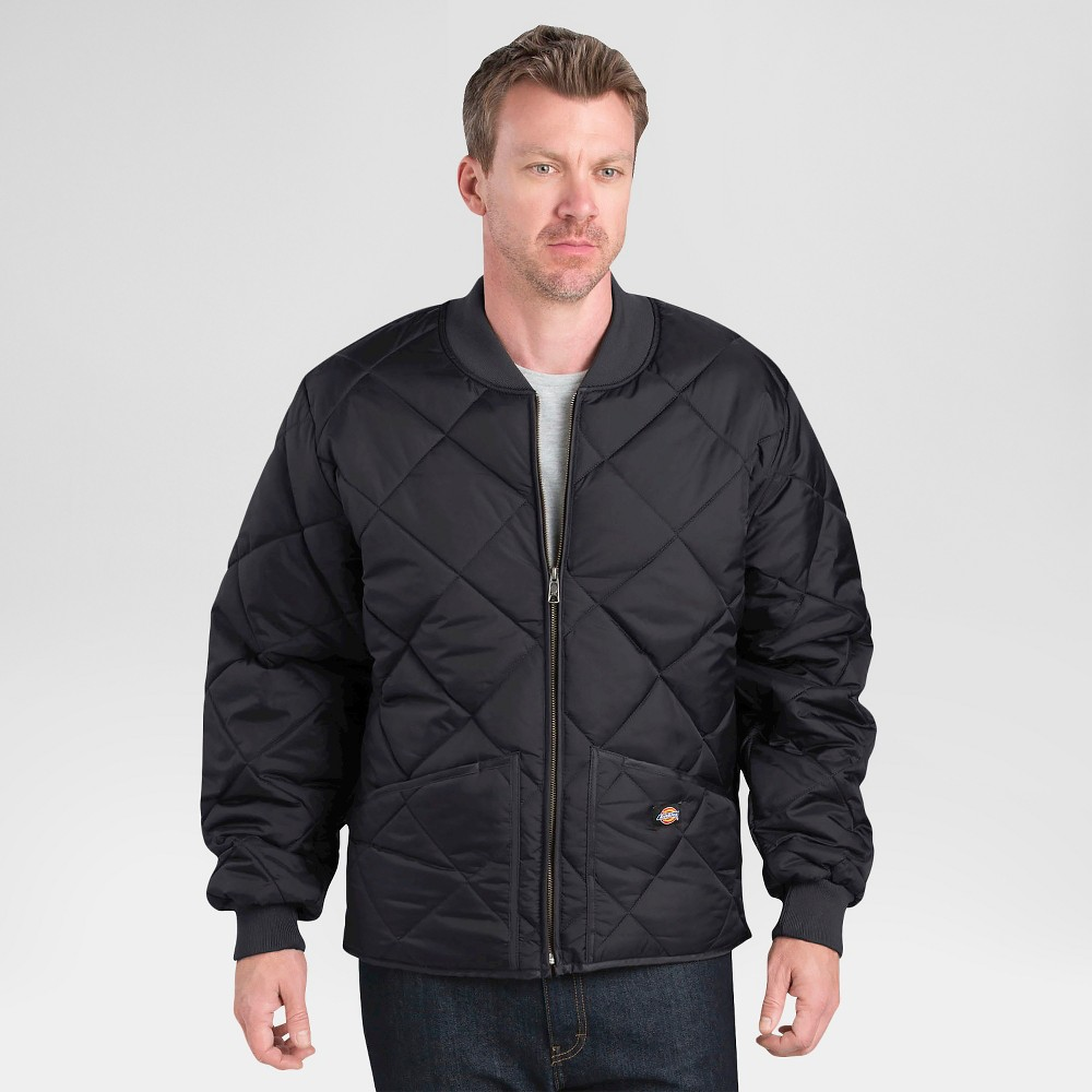 Image of Dickies Men's Big & Tall Diamond Quilted Nylon Jacket- Black 4XL, Men's