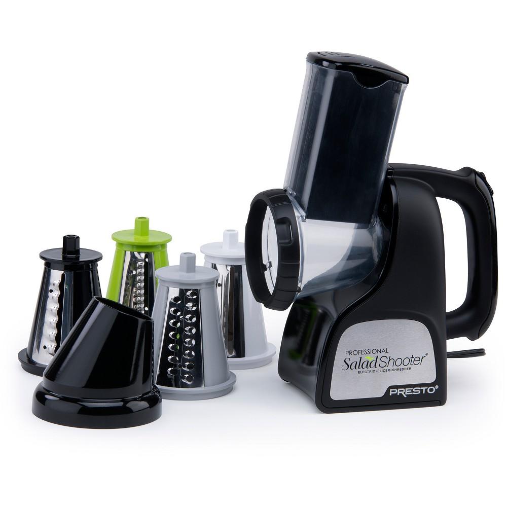 Presto Professional SaladShooter Electric Slicer/Shredder- 02970, Black