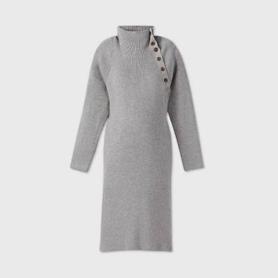 Long Sleeve Sweater Maternity Dress - Isabel by Ingrid & Isabel™ Gray XXL