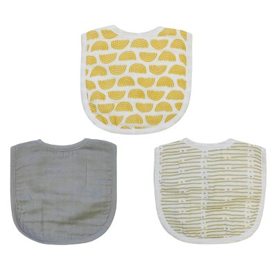 Neat Solutions Muslin Infant Bib Set - Neutral- 3pk