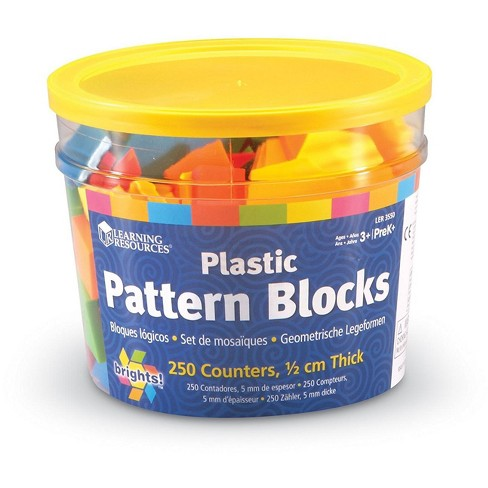 Learning Resources Brights! Pattern Blocks, 250 Blocks, Ages 3+ - image 1 of 3