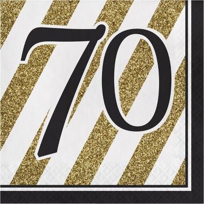 48ct Happy 70th Birthday Napkins