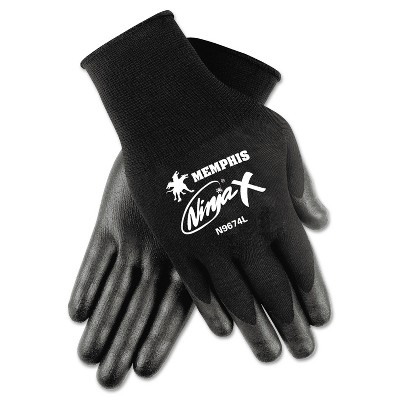 Memphis Ninja x Bi-Polymer Coated Gloves Small Black Pair N9674S