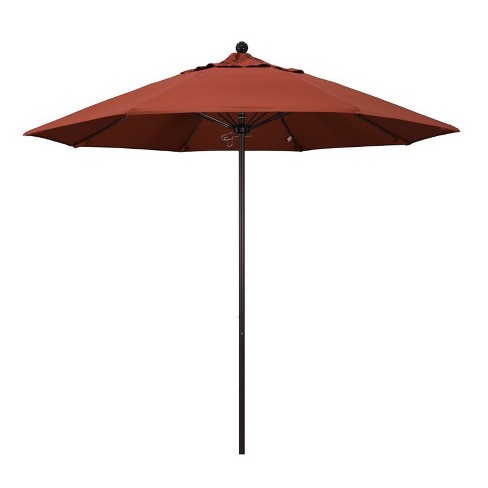 Venture 9' Bronze Market Umbrella in Terracotta - California Umbrella - image 1 of 1