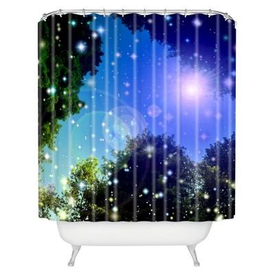 Make A Wish 1 Shower Curtain Blue - Deny Designs