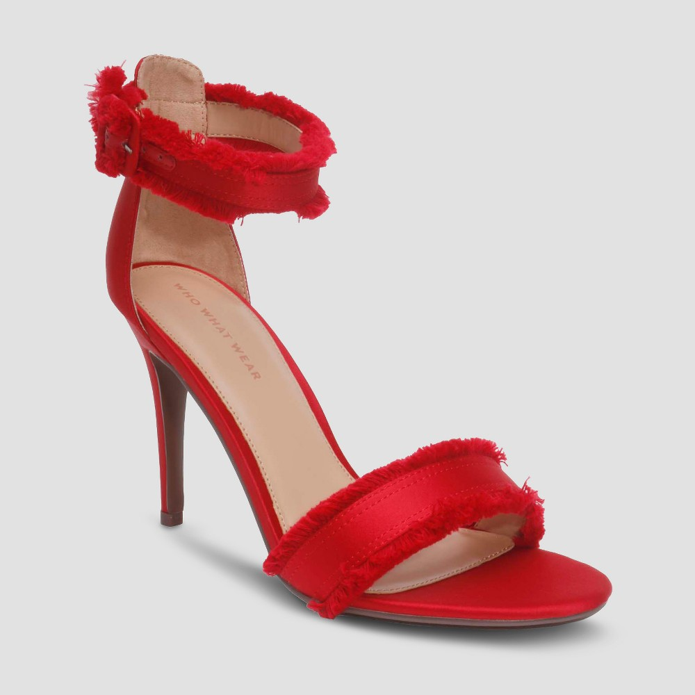 Image of Women's Corin Ankle Strap - Who What Wear Red 9.5