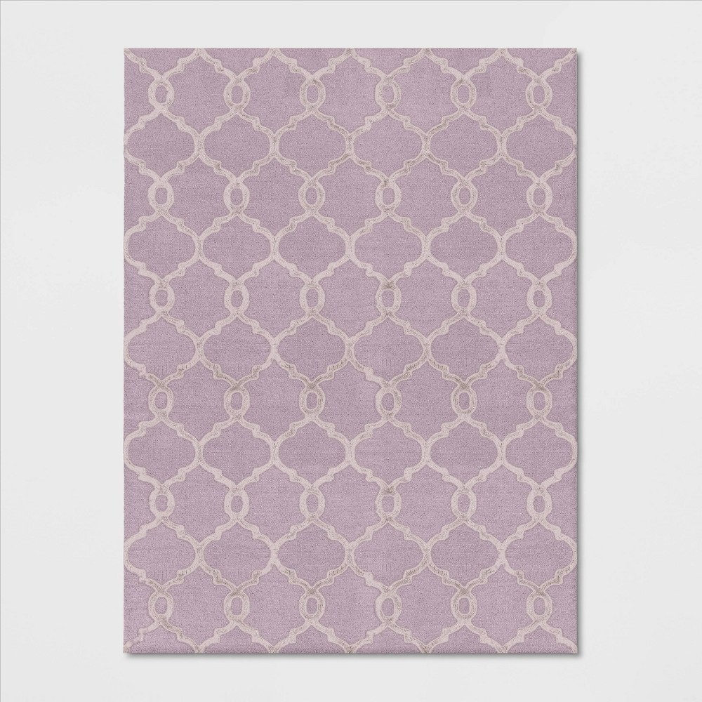 9'X12' Trellis Tufted Viscose Area Rug Pink - Opalhouse was $499.99 now $249.99 (50.0% off)