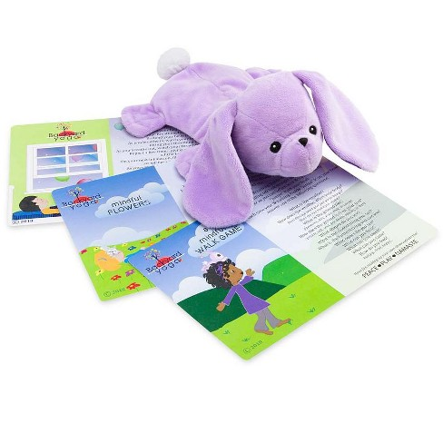 Yoga Breathing Buddies Weighted Plush Animals with Flaxseed - HearthSong - image 1 of 2
