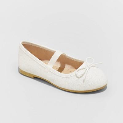 Toddler Girls' Becca American Girl Slip-On Ballet Flats - Cat & Jack™ White 12