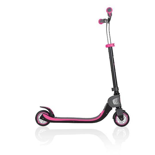 Globber Flow 125 Foldable Kick Scooter - Black/Pink image number null