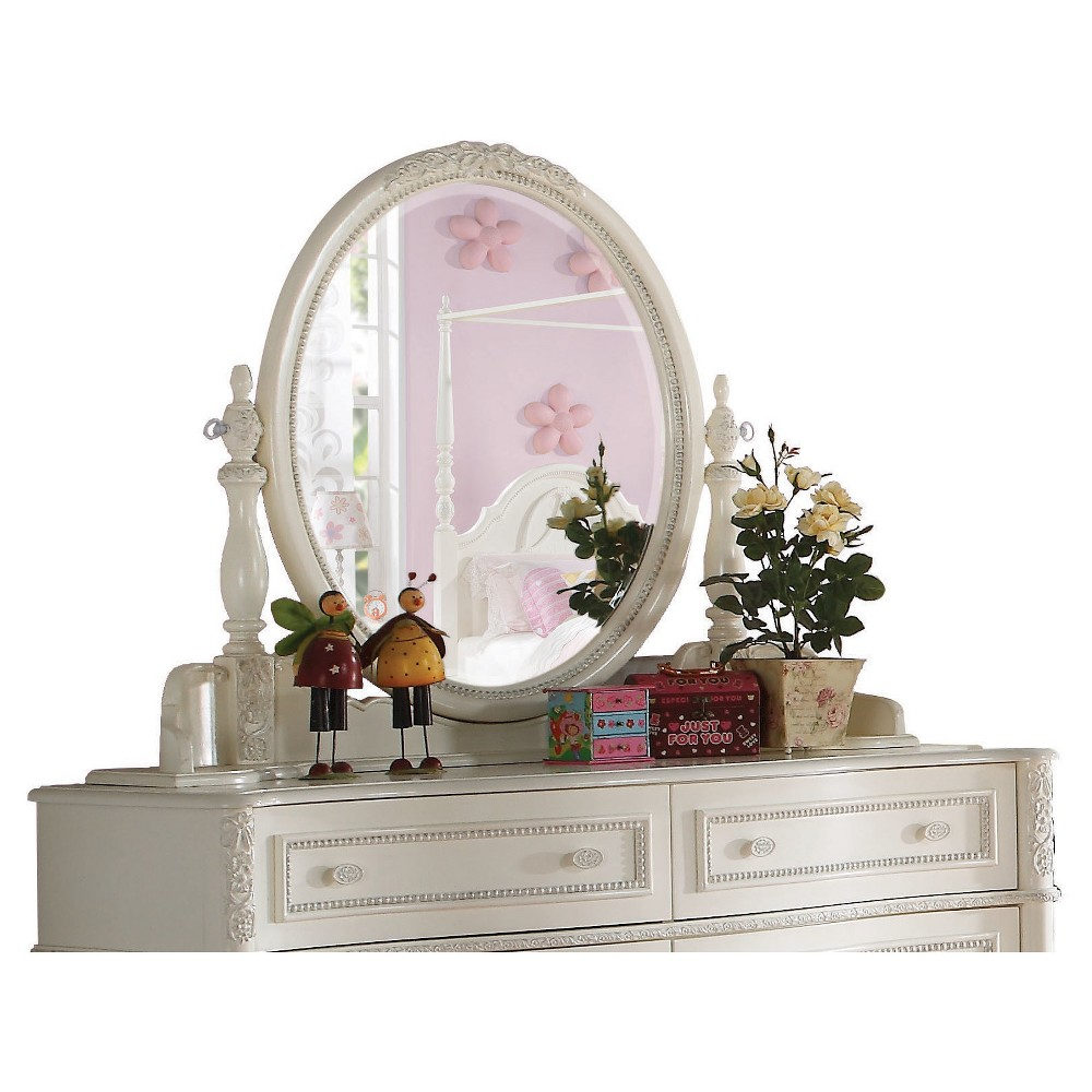 Image of Dorothy Kids Dresser Mirror - Ivory - Acme