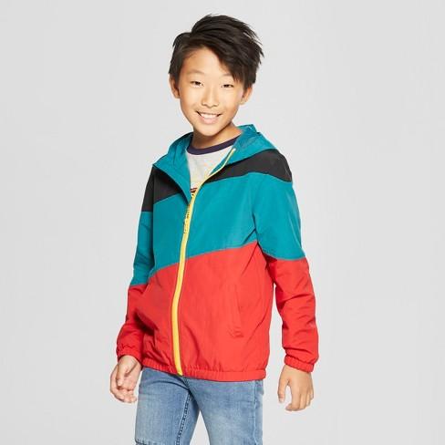 Boys' Colorblock Windbreaker Jacket - art class™ Blue XL - image 1 of 3
