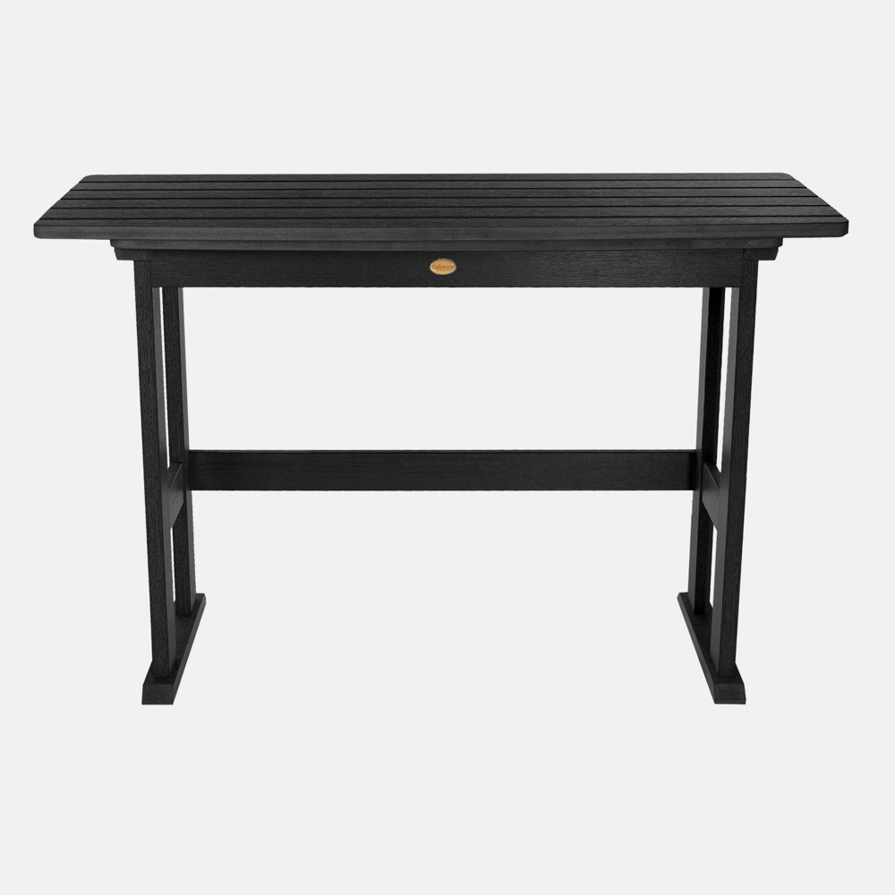Image of Lehigh Counter Height Balcony Patio Table Black - highwood