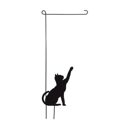 Evergreen Flag Cat Garden Flag Stand