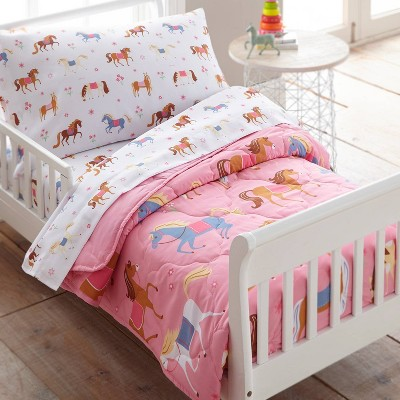 4pc Toddler Horses Microfiber Bed in a Bag - WildKin