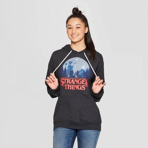 Women's Stranger Things Oversized Lounge Sleep Sweatshirt - Charcoal - image 1 of 2